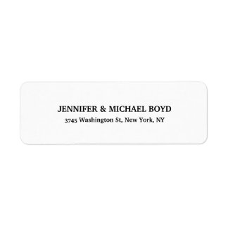 Black & White Unique Retro Style Classical Family Return Address Label