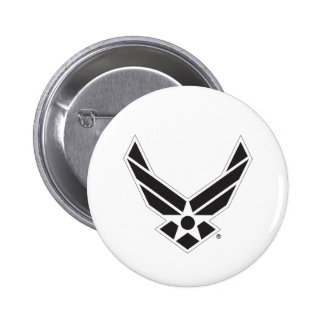 Black & White United States Air Force Logo 6 Cm Round Badge