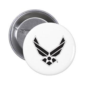 Black & White United States Air Force Logo 6 Cm Round Badge