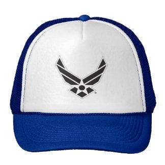 Black & White United States Air Force Logo Mesh Hat