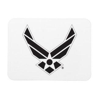 Black & White United States Air Force Logo Rectangular Photo Magnet