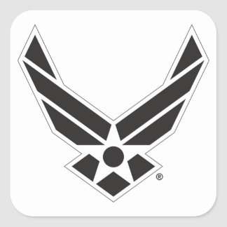 Black & White United States Air Force Logo Square Sticker