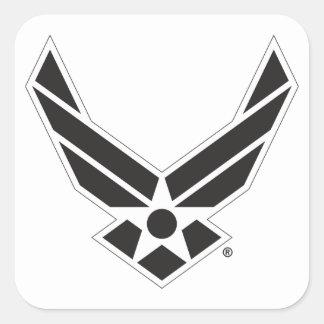 Black & White United States Air Force Logo Square Sticker