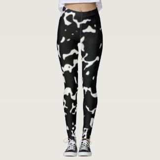 Black & White Urban Camo Yoga Leggings