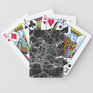 Black & White Veiny Marble Bicycle Playing Cards