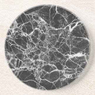 Black & White Veiny Marble Coaster