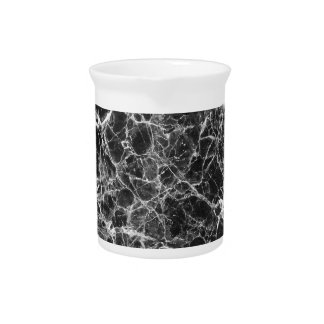 Black & White Veiny Marble Pitcher