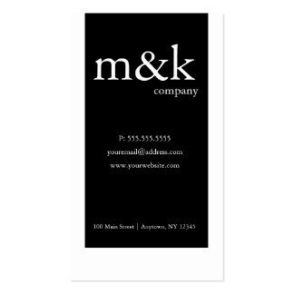 Black White Vertical Company or Personal Business Card Templates