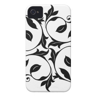 Black/White Vines Barely There iPhone 4 Case-Mate Case