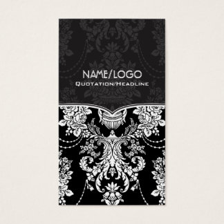 Black & White Vintage Baroque Style Design Business Card