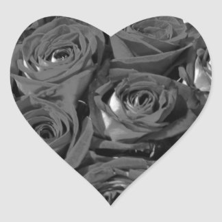 Black & White Vintage-look Roses Photo Stickers