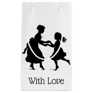 Black & White Vintage Mother's Day Small Gift Bag