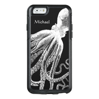 Black White Vintage Octopus Tentacles Illustration OtterBox iPhone 6/6s Case