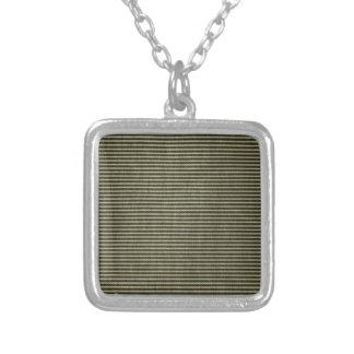 Black White Vintage Ticking Pattern Necklaces