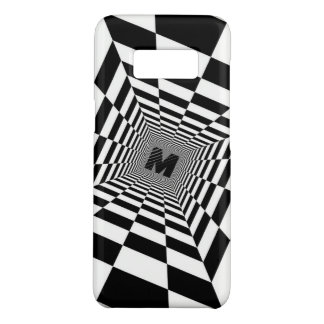 Black & White Visual Illusion, Monogram or Initial Case-Mate Samsung Galaxy S8 Case