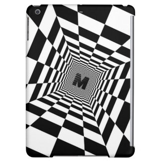 Black & White Visual Illusion, Monogram or Initial iPad Air Case