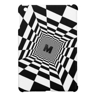 Black & White Visual Illusion, Monogram or Initial iPad Mini Covers