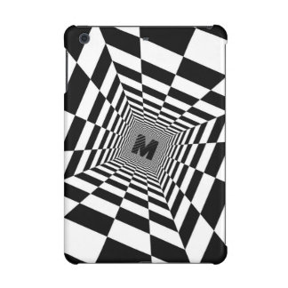 Black & White Visual Illusion, Monogram or Initial iPad Mini Retina Cover
