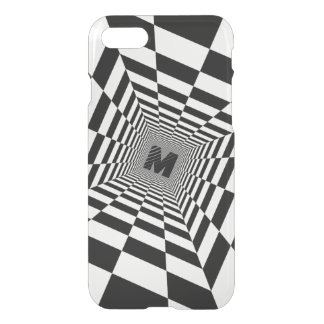 Black & White Visual Illusion, Monogram or Initial iPhone 8/7 Case