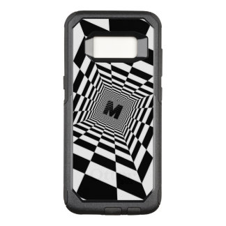 Black & White Visual Illusion, Monogram or Initial OtterBox Commuter Samsung Galaxy S8 Case