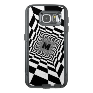 Black & White Visual Illusion, Monogram or Initial OtterBox Samsung Galaxy S6 Case