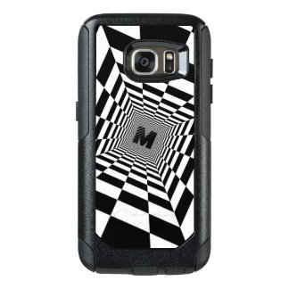 Black & White Visual Illusion, Monogram or Initial OtterBox Samsung Galaxy S7 Case