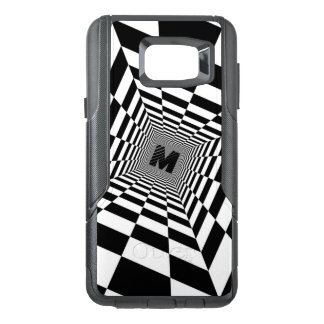 Black & White Visual Illusion, Monogram or Initial OtterBox Samsung Note 5 Case