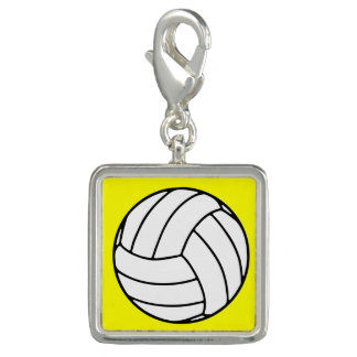 Black/White Volleyball Ball on Yellow