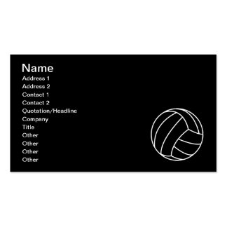 BLACK WHITE VOLLEYBALL summer sports beach fun Business Card Templates