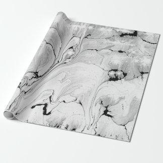Black, white water texture design, marbling paper
