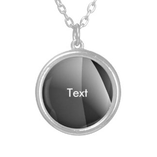 Black&White Wavy Abstract Round Pendant Necklace