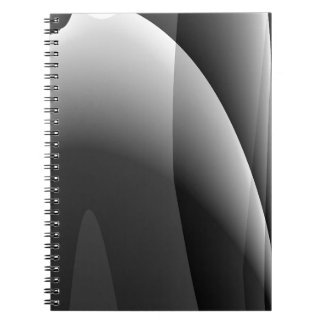 Black&White Wavy Abstract Spiral Notebook