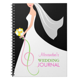 Black & White Wedding - Bride's Journal Notebook