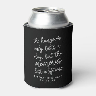 Black & White Wedding Hangover Can Cooler