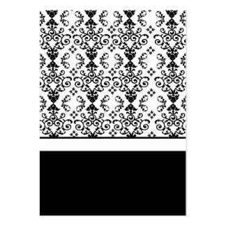Black & White Wedding Invitation Card Inserts Pack Of Chubby Business Cards