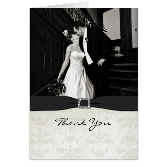 Black & White Wedding Photo Thank You Card