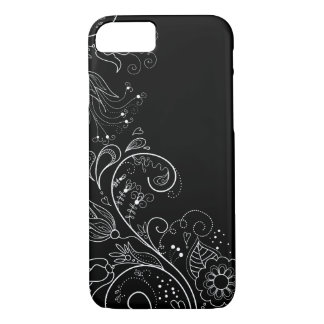 Black & White Whimsical Floral iPhone 7 case