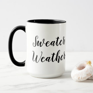 Black & White Winter Typography Mug