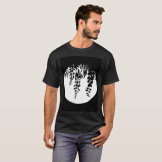 Black White Wisteria Silhouette by DelynnAddams T-Shirt