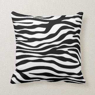 Black & White Zebra Animal Print Throw Cushion