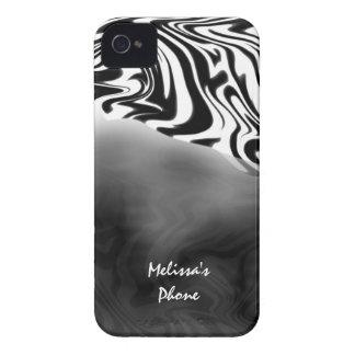 Black White Zebra Print Blackberry Phone Case iPhone 4 Cases