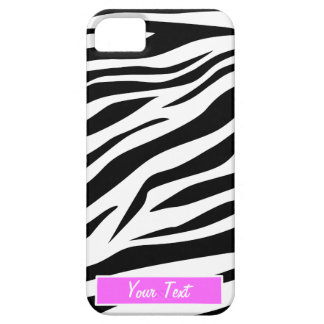Black/White Zebra Print - Personalize iPhone 5 Case