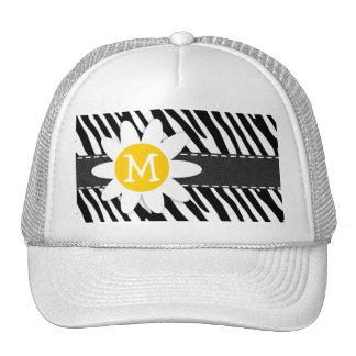 Black & White Zebra; Spring Daisy Trucker Hats