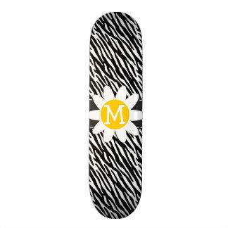 Black White Zebra Spring Daisy Skate Board Decks