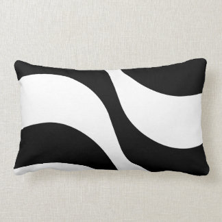 black + white zebra stripe pattern modern  pillow