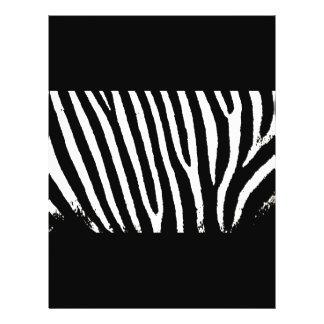 Black & White Zebra Stripes Personalized Flyer