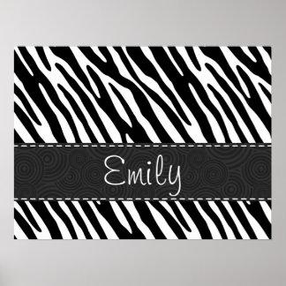 Black & White Zebra Stripes Poster