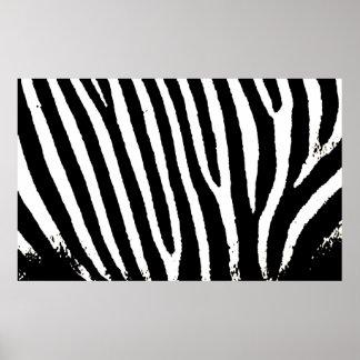 Black & White Zebra Stripes Print