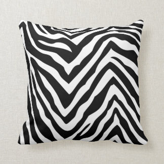 Black & White Zebra Stripes Throw Pillow