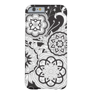 Black&white zen pattern with sends them and leaves barely there iPhone 6 case